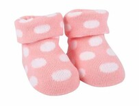 Pink Spot Bootees